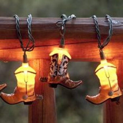 10 ft Cowboy Boot Party String Lights Set - Spirit of the West Rustic Decor