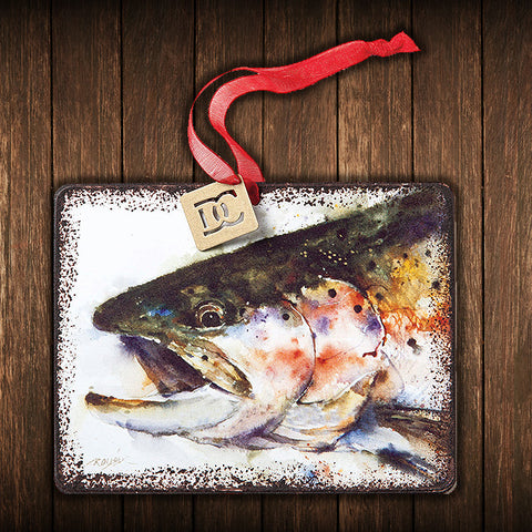 Metal Rainbow Trout Christmas Tree Ornament - Spirit of the West Rustic Decor