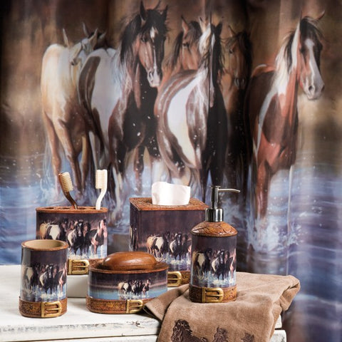 """Rush Hour"" Bathroom Set - Spirit of the West Rustic Decor"