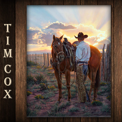 """A Lot Like Heaven"" 24 in x 18 in Giclée By Cowboy Artist Tim Cox - Spirit of the West Rustic Decor"