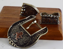 Load image into Gallery viewer, New Handmade Clint Mortenson 3 Piece Belt Buckle Set(Sold)