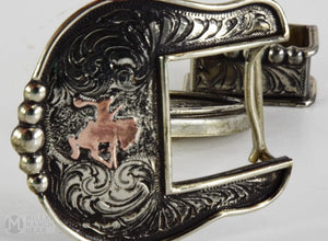 New Handmade Clint Mortenson 3 Piece Belt Buckle Set(Sold)