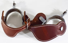 Load image into Gallery viewer, Great Condition Ladies/Youth Crockett Spurs and Straps