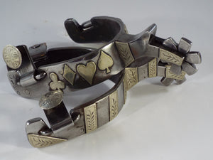 Double Mounted Andre Lewis Spurs