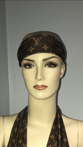 Brown LV Inspired Headband