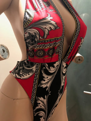 Versace Inspired Swimsuit with headband