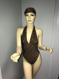 Brown Inspired LV Swimsuit