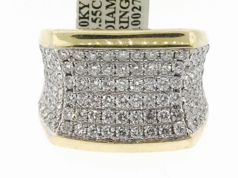 MEN'S 3.55 CARAT ICED OUT RING