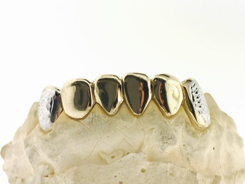 6 BOTTOM PIECE 10K WITH DIAMOND CUT FANGS (WITH MOLD KIT)