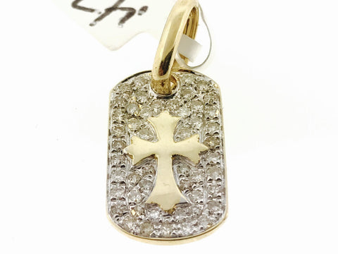 MINI DOG TAG WITH CROSS SET (WITH CHAIN)