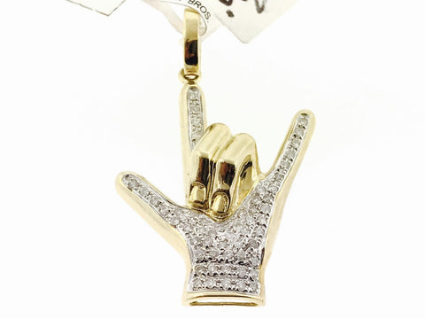 ICED ROCKSTAR HANDS SET (WITH CHAIN)