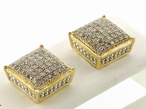 MENS ICED OUT SQUARE EARRINGS
