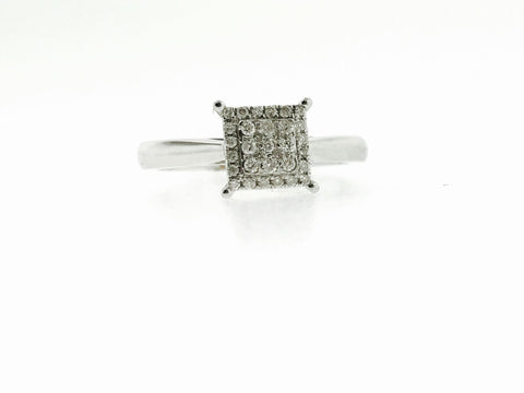 14K WHITE GOLD BRIDAL RING .22 CARATS