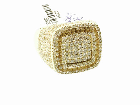 MENS TRIPLE SQUARE RING 2.25 CARATS