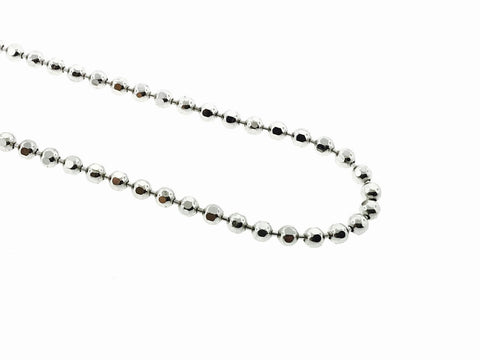 10K WHITE GOLD BEAD CHAIN