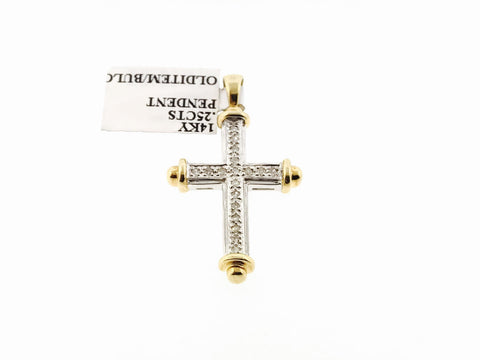 SMALL ICEY CROSS .25 CARATS (WITH CHAIN)