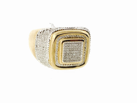 10K GOLD SQUARE RING .60 CARATS