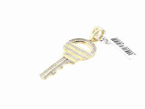 LARGE ICED OUT KEY .55 CARATS