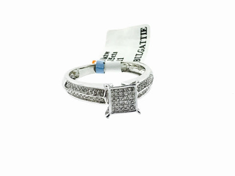 10K WHITE GOLD WOMENS RING .35 CARAT