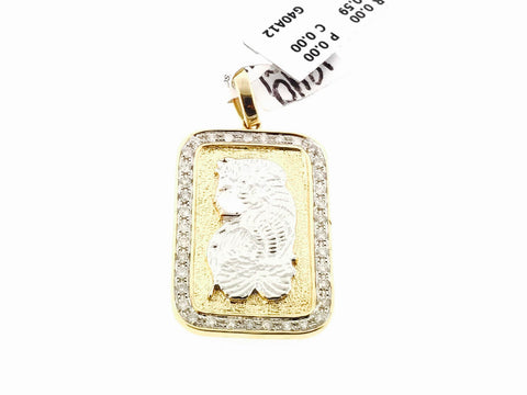 10K YELLOW GOLD CHARM .59 CARATS