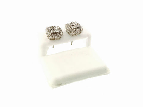 STUNNING ICED OUT EARRINGS .55 CARATS