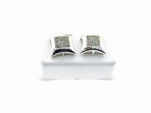 14K WHITE GOLD 11 MM EARRINGS .56 CARATS