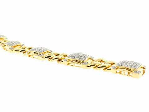 ICED OUT CUSTOM CUBAN LINK BRACELET 4.35 CARATS
