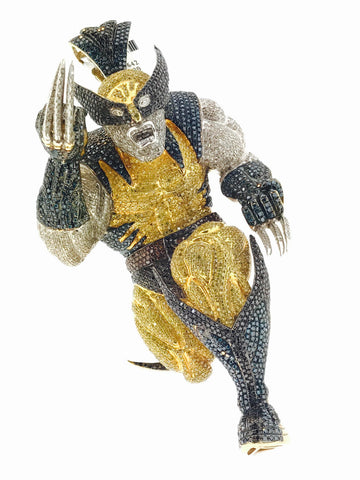 CUSTOM WOLVERINE CHARM 5 INCH 18.25 CARATS