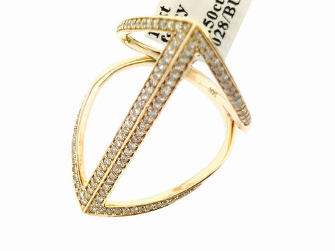 14K GOLD FANCY RING .50 CARATS