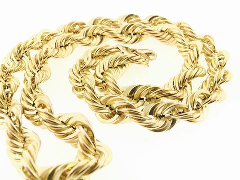Rope Chain (30 inches, 15MM, 84.9 Grams)