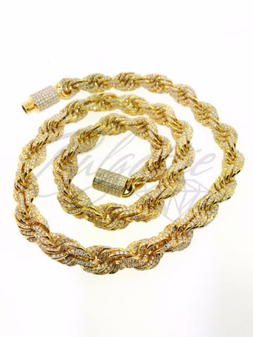ICED OUT ROPE 4250 STONES (32 INCHES, 15MM, 508.7 GRAMS