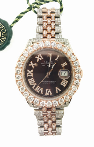 2017 Rolex DateJust 42MM, 20 Carat VVS (Brand New)