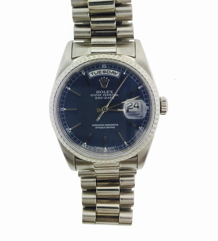 Rolex Date Just 34MM 18K White Gold