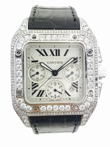 Cartier Santos 100 XL 13ct 41mm SI Clarity