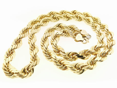 Rope Chain (28 inches, 8 MM, 200.4 Grams)