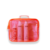 pink PVC essentials bag