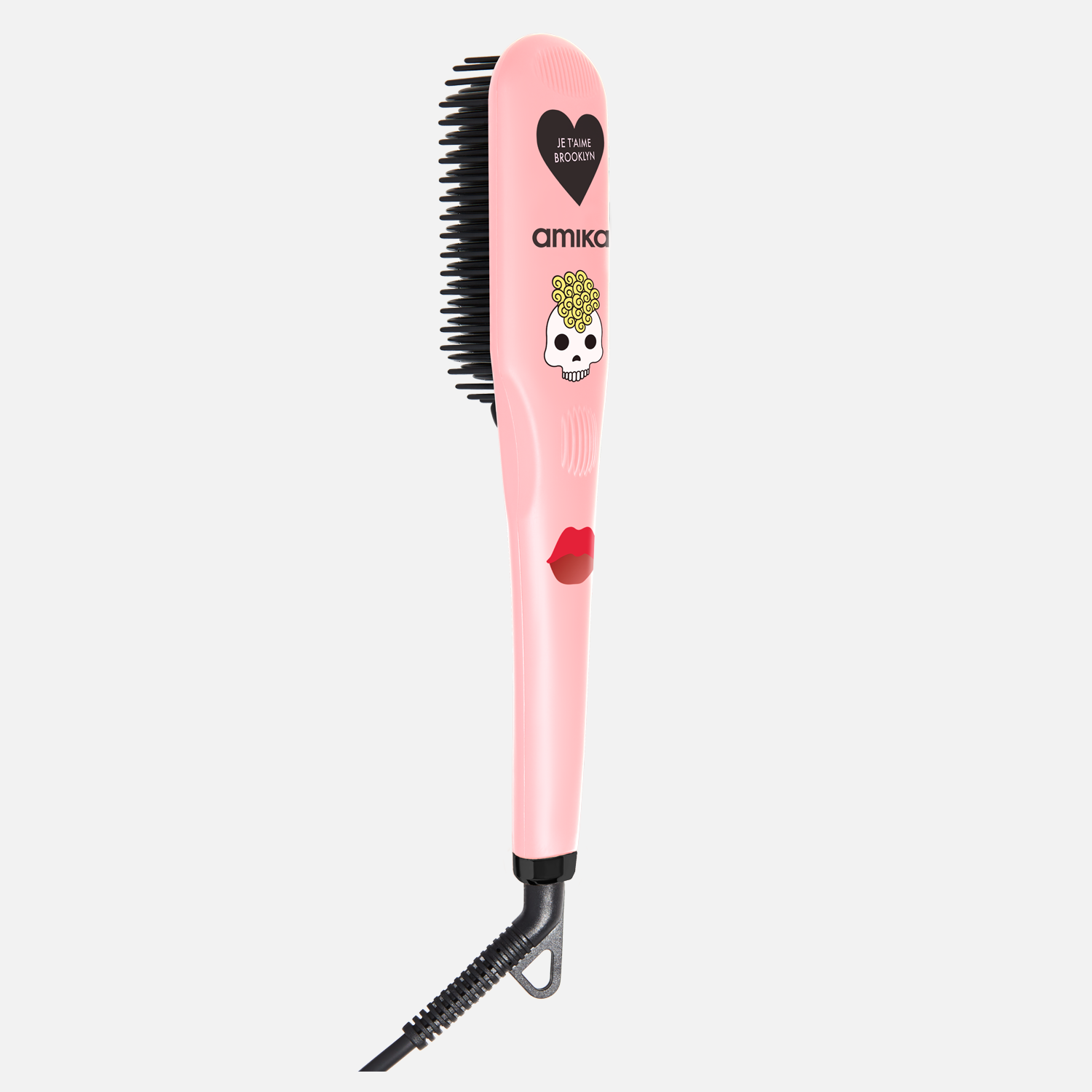 polished perfection straightening brush <span> rose quartz - limited edition