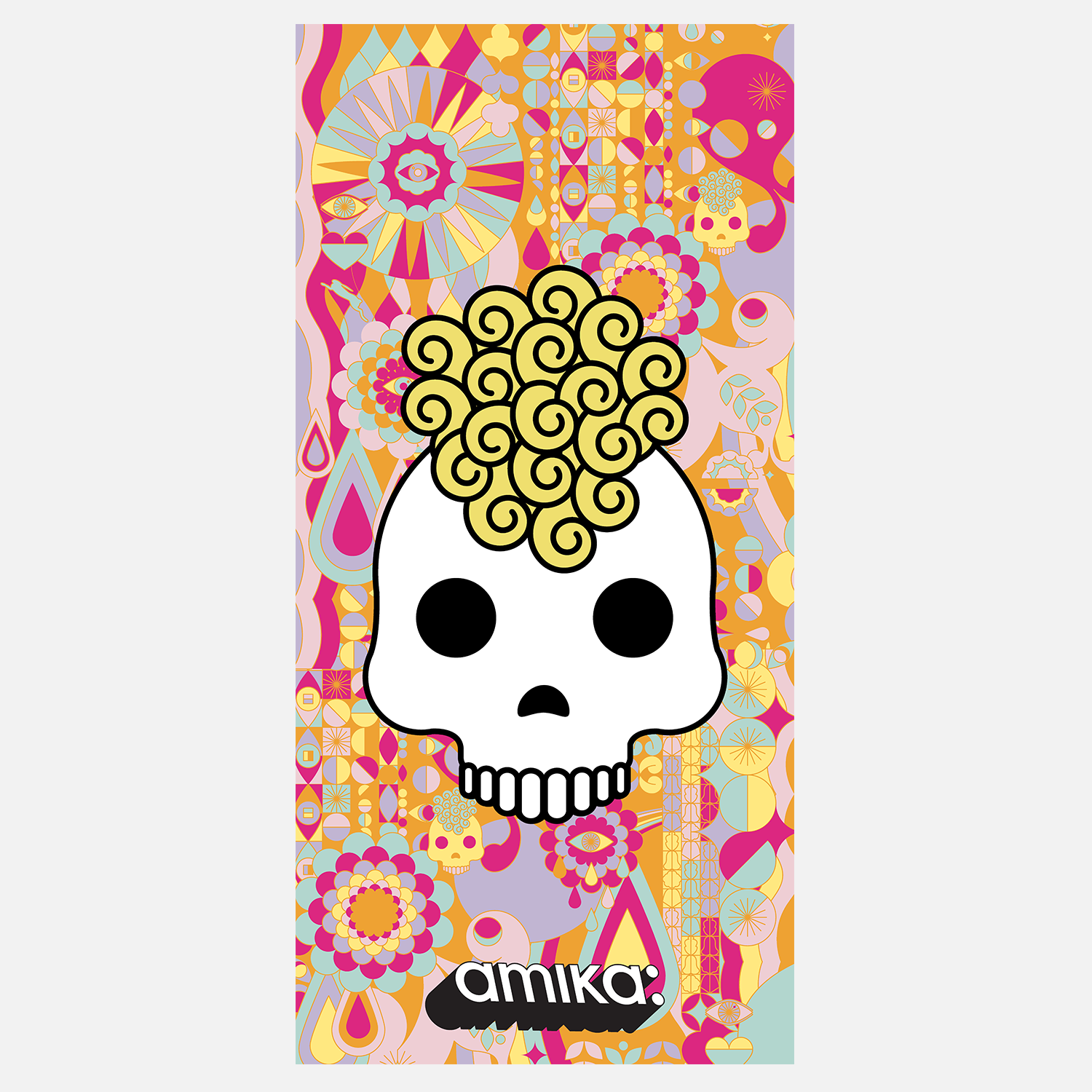 semi sheer banner - skull | amika salon merch