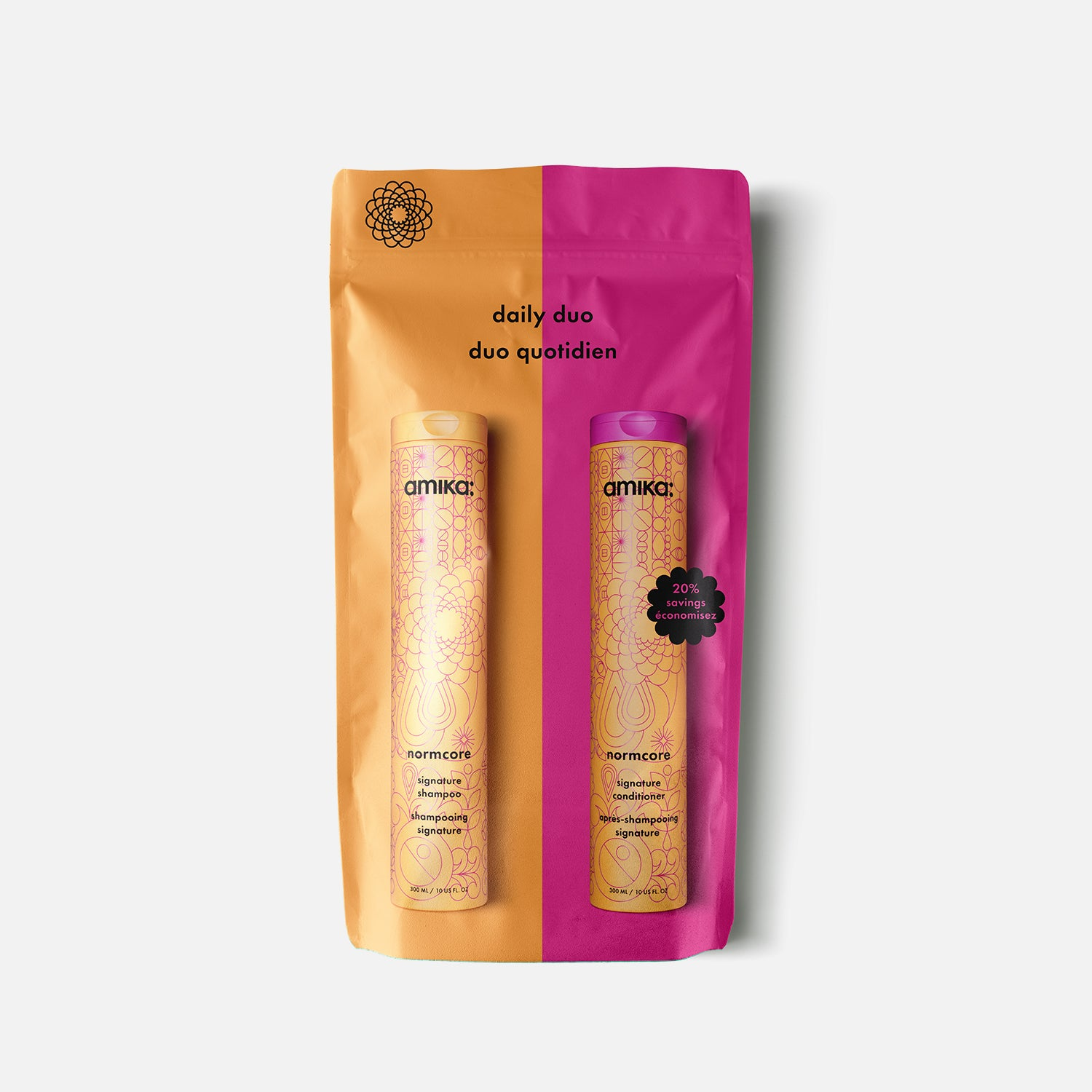normcore daily duo signature shampoo + conditioner | amika