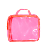 pink PVC essentials bag | amika
