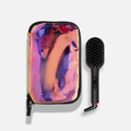 polished perfection mini | straightening brush - holographic bag