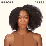 before and after using 3D volume and thickening shampoo and conditioner | amika