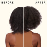 before and after using 3D volume duo volume and thickening shampoo + conditioner | amika