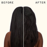 before and after using hair blow dryer brush | amika