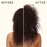 before and after using Bushwick beach no-salt wave spray | amika