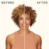 before and after using curl corps defining cream | amika
