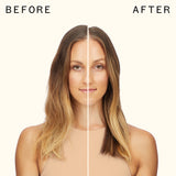 before and after using flash instant shine mask | amika