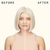 before and after using the kure repair shampoo | amika