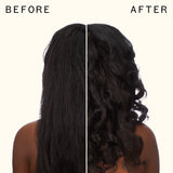before and after using glass action hydrating hair oil universal elixir | amika