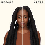 before and after using reset cooling gel conditioner | amika